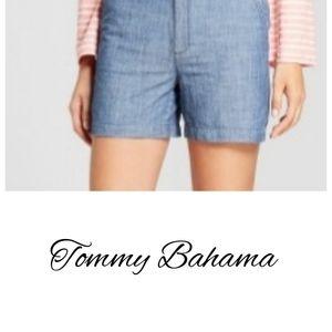 Tommy Bahama Chambray Palmbray Linen Shorts